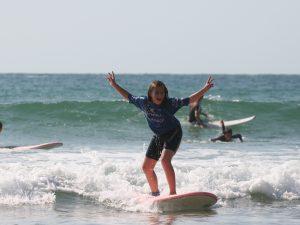 La sensation de glisse même sur de petites vagues