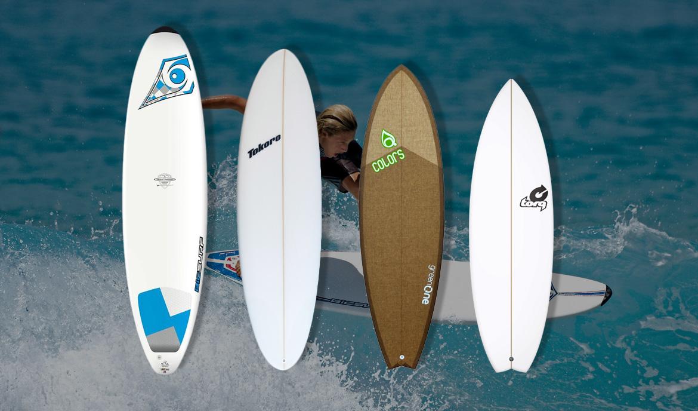 Différents modèles de planche de surf